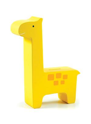 Sparbössa i trä Giraff Gul