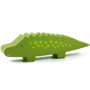 Sparbössa i trä Krokodil Grön