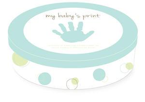Babyprint Plåtburk Blå